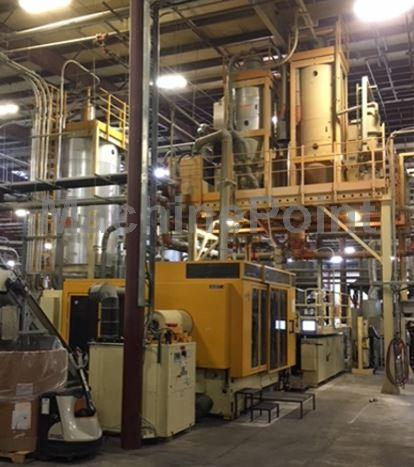 Go to Injection moulding machine for preforms HUSKY HyPET400 HPP RF (recycle flake system) P100/110 TSE55 G150
