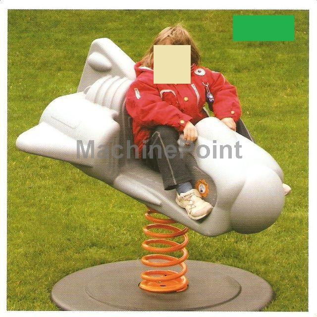 Idź do Forma do rotomoldingu  Rotomolding mold for Playground rocker rocket model