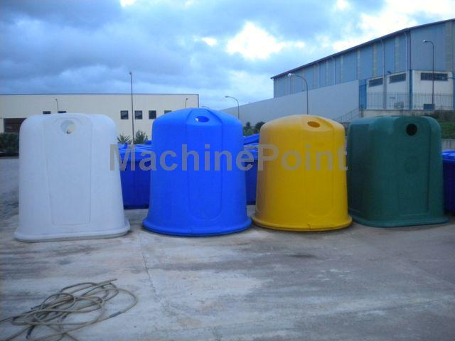 Idź do Forma do rotomoldingu  Rotomolding Mold for round recycling container  capacity 3.000 l