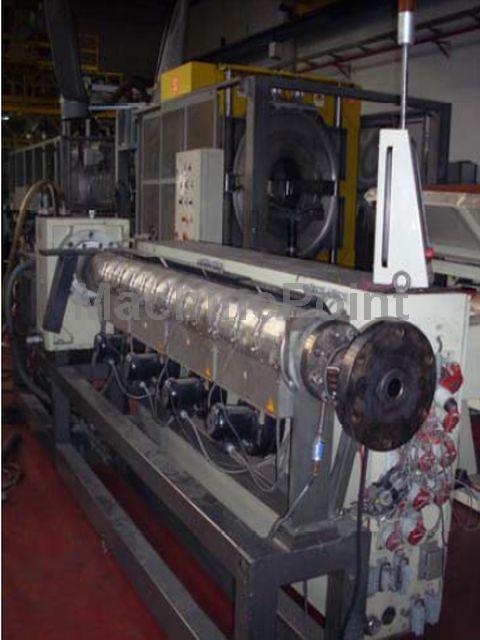 去 Extrusion line for PE/PP pipes CINCINNATI MILACRON CMS 75-30