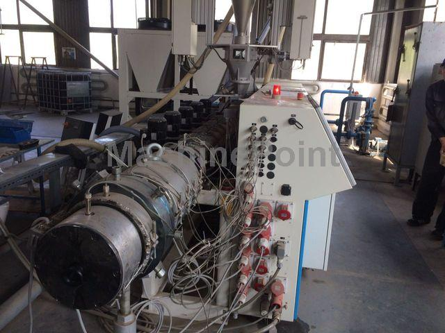 去 Extrusion line for PE/PP pipes KRAUSS MAFFEI KME 60-36B