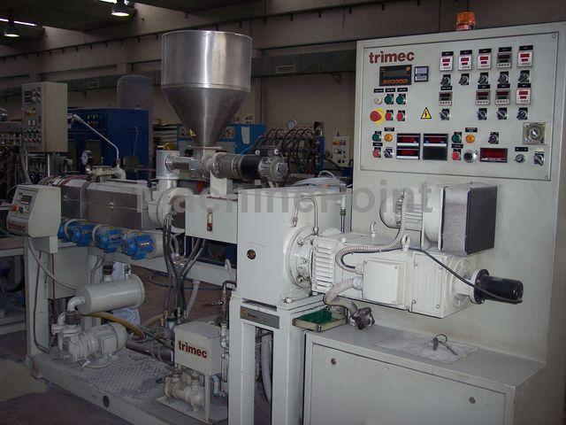 Devam et Twin-screw extruder for PVC TRIMEC ELT 53