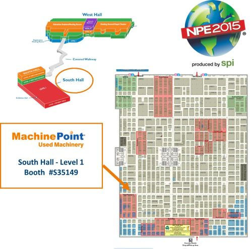 Meet MachinePoint team at the NPE 2015. Lets talk about used machinery!