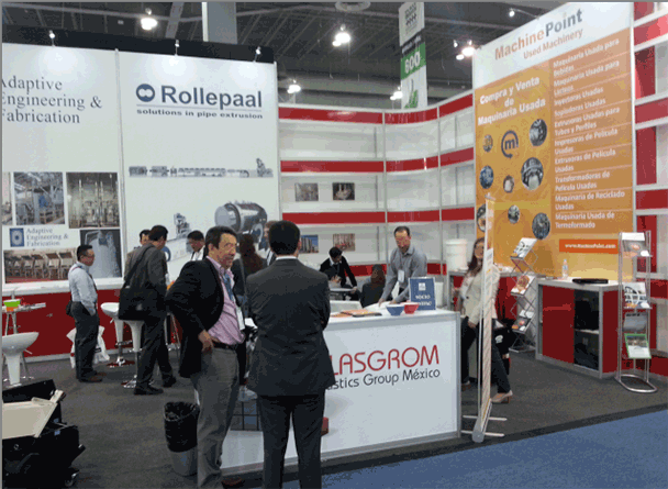 Professional services for used plastic, packaging and beverages machinery in Mexico PLASTIMAGEN 2014