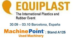 Used machinery for plastics and beverages at Equiplast tradeshow Barcelona