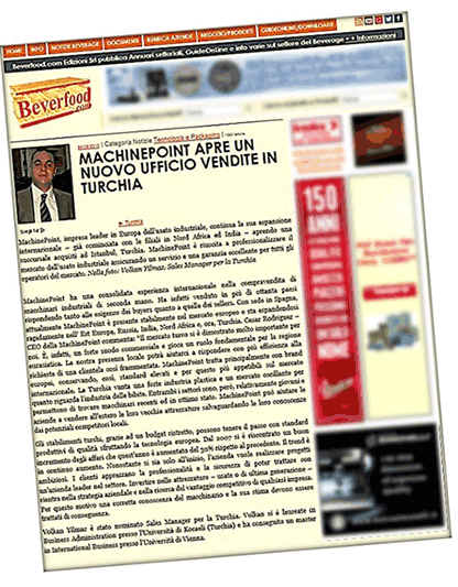 MachinePoint Turkey trade of european quality used machinery