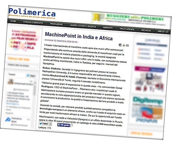 Used machines in India and Africa by MachinePoint best dealer and smooth financial transaction