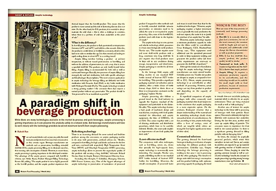 A paradigm shift in beverage production