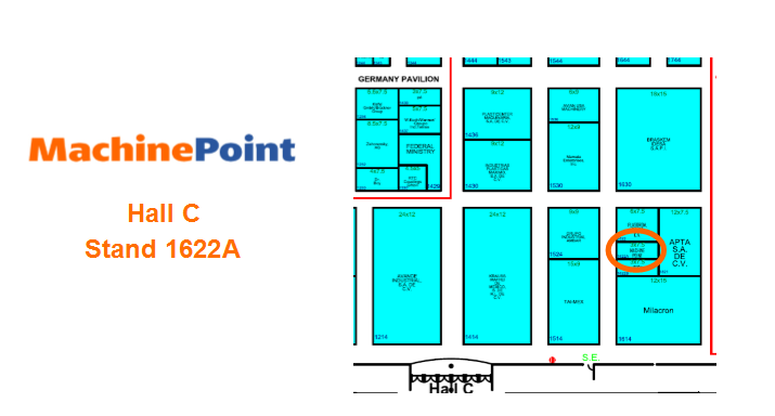 MachinePoint can be found at booth 762. Plastimagen show runs from November 7-10 in México City, Mexico