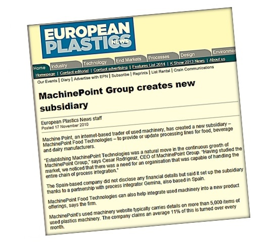 MachinePoint Group creates new subsidiary