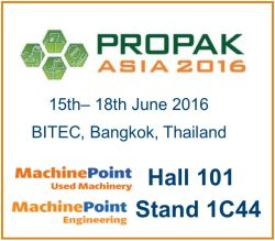 Meet MachinePoint team at the Propak Asia 2016. Lets talk about used machinery!