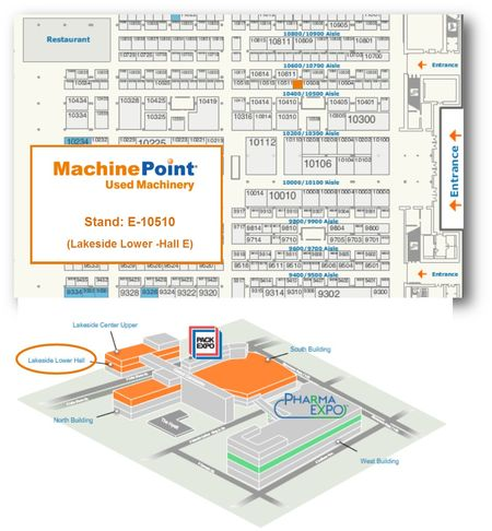 Meet MachinePoint team at the PACK EXPO International 2014. Lets talk about used machinery!