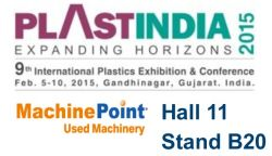 Meet MachinePoint team at the PLASTINDIA 2015. Lets talk about used machinery!