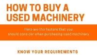 How to buy used machinery